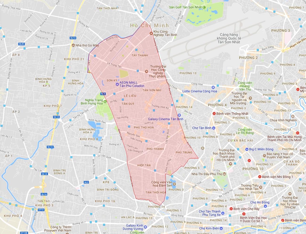 Bản đồ quận Tân Phú