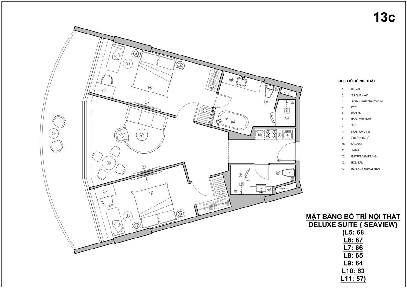 Thiết kế Hotel dự án Condotel Biệt thự Charm Resort Long Hải chủ đầu tư Charm Group