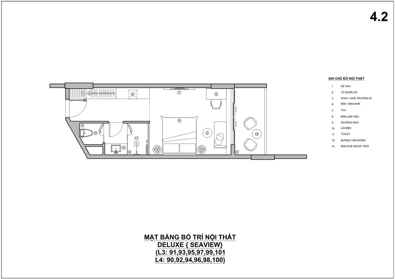 Thiết kế căn hộ dự án Charm Resort Long Hải