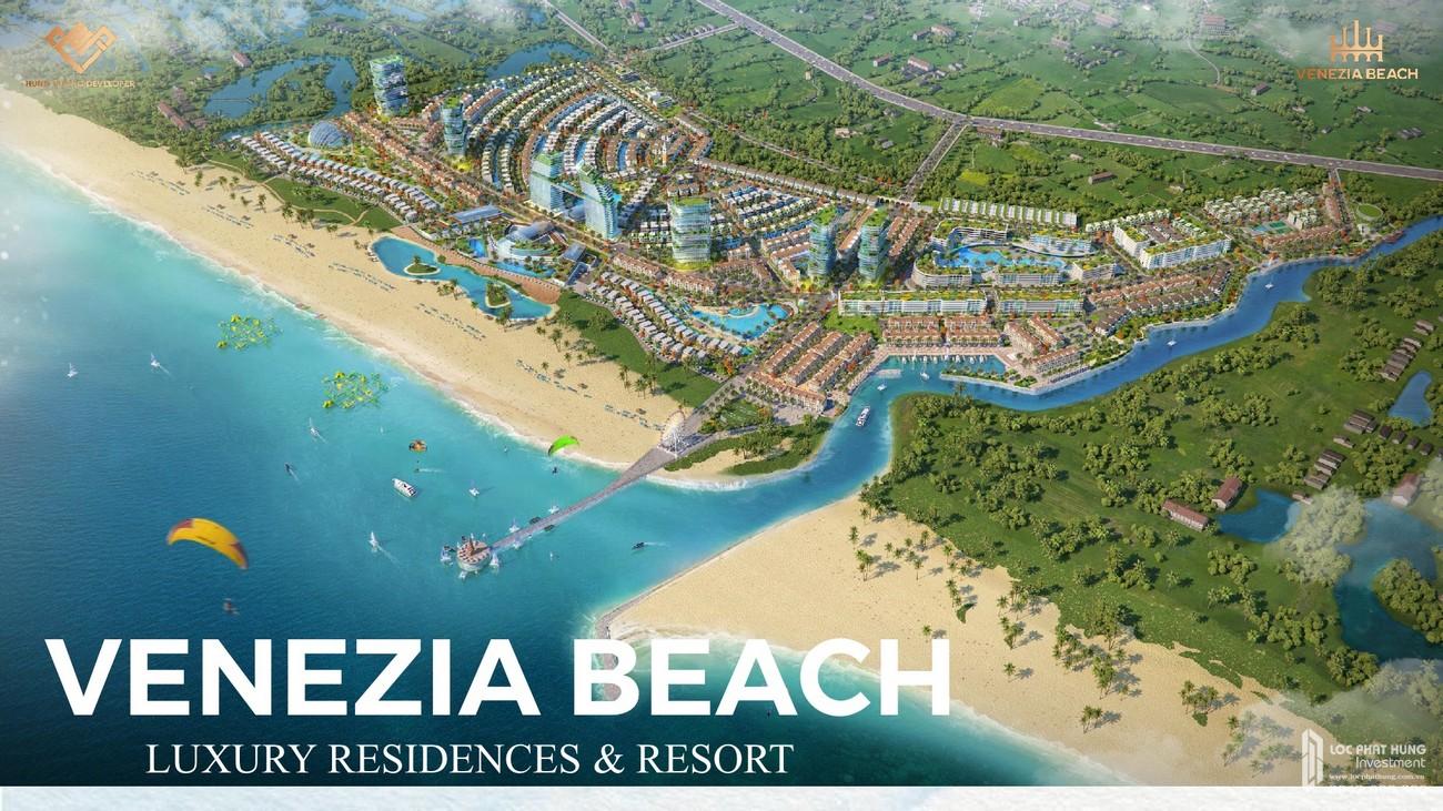 Phối cảnh tổng thể dự án Khu đô thị nghỉ dưỡng Venezia Beach Hàm Tân Đường Thắng Hải