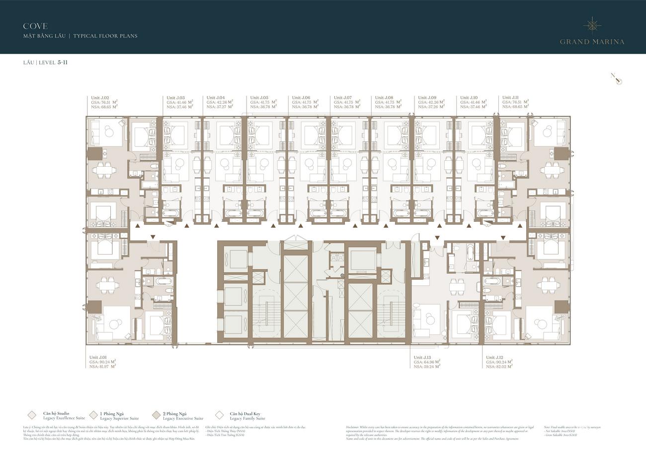 Mặt bằng dự án căn hộ chung cư Grand Marina Saigon Quận 1 Đường Nguyễn Hữu Cảnh chủ đầu tư Masterise Homes