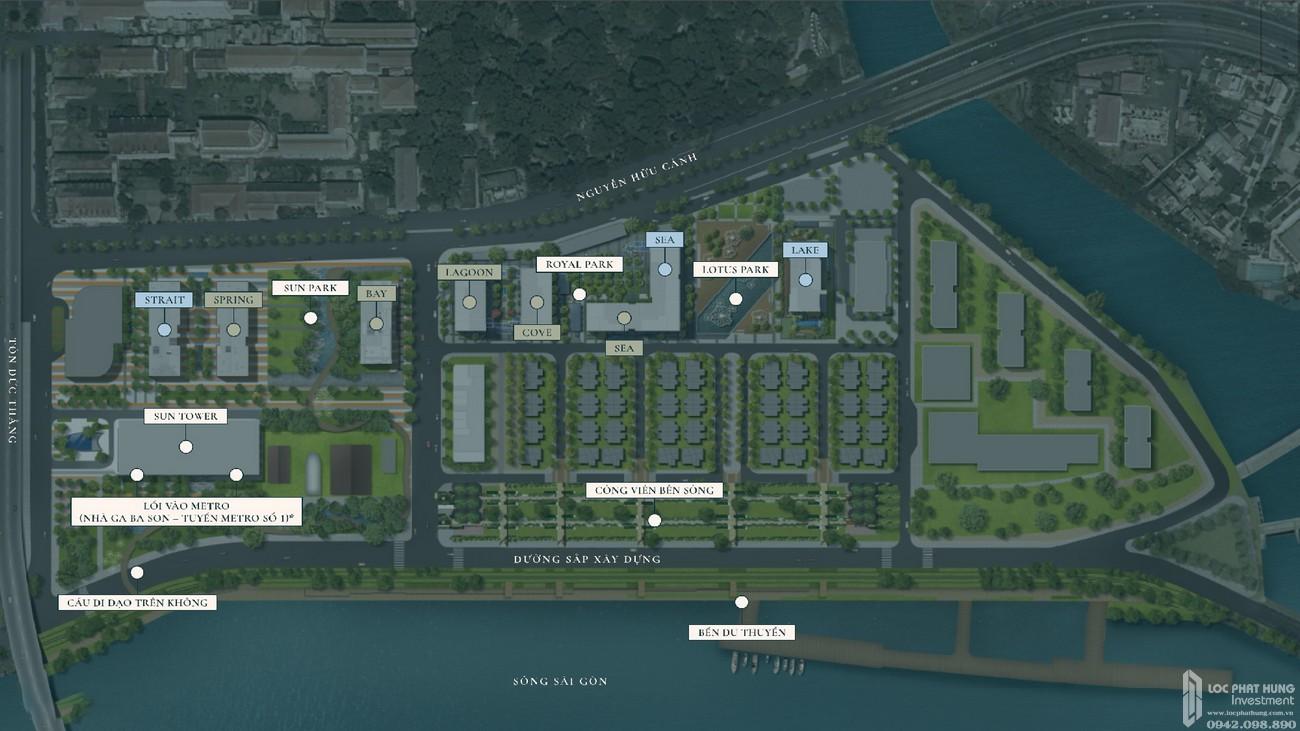 Mặt bằng dự án căn hộ chung cư Grand Marina Saigon Quận 1