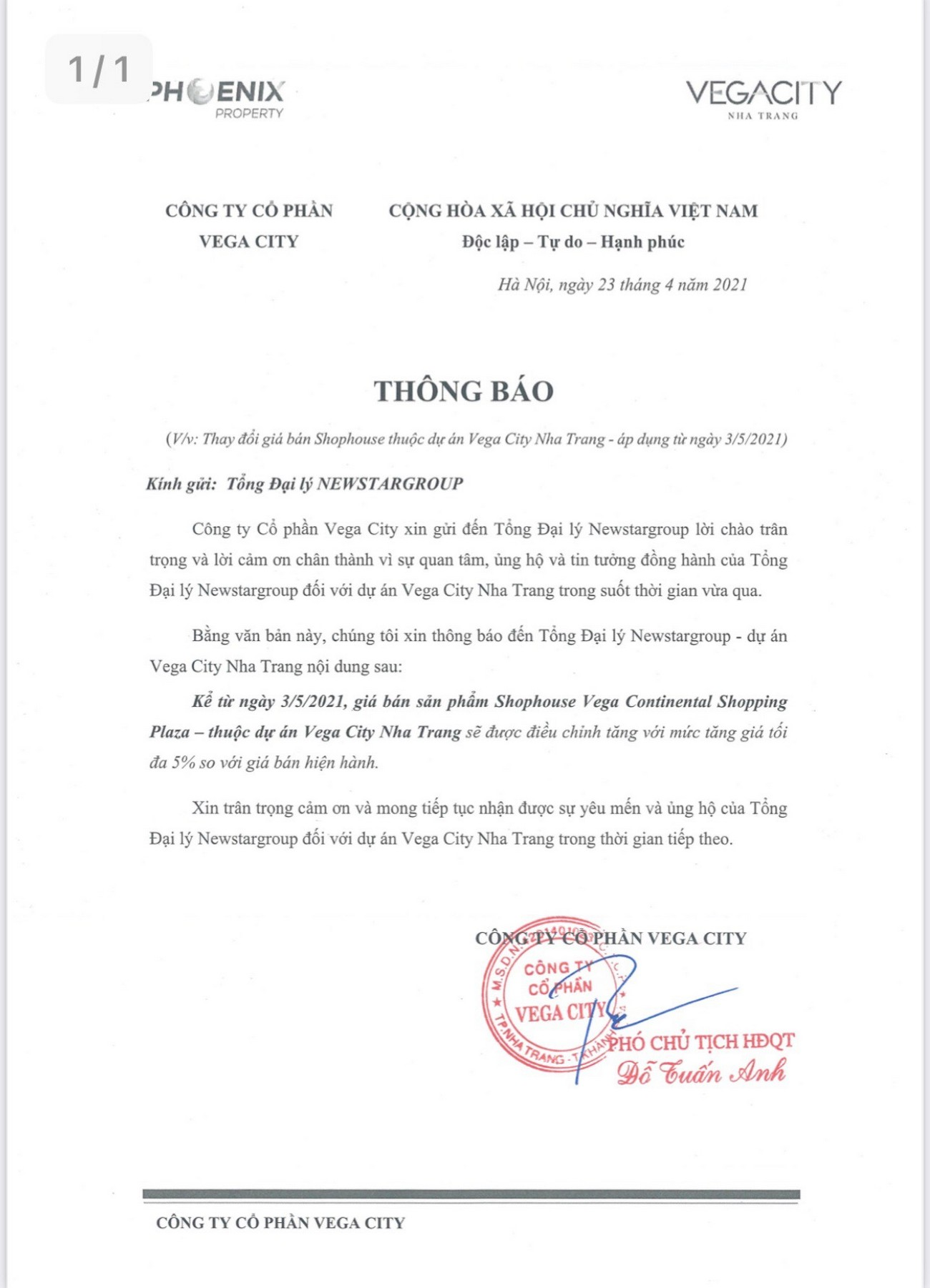 Mở bán Shophouse Vega City Nha Trang - chủ đầu tư KDI Holdings
