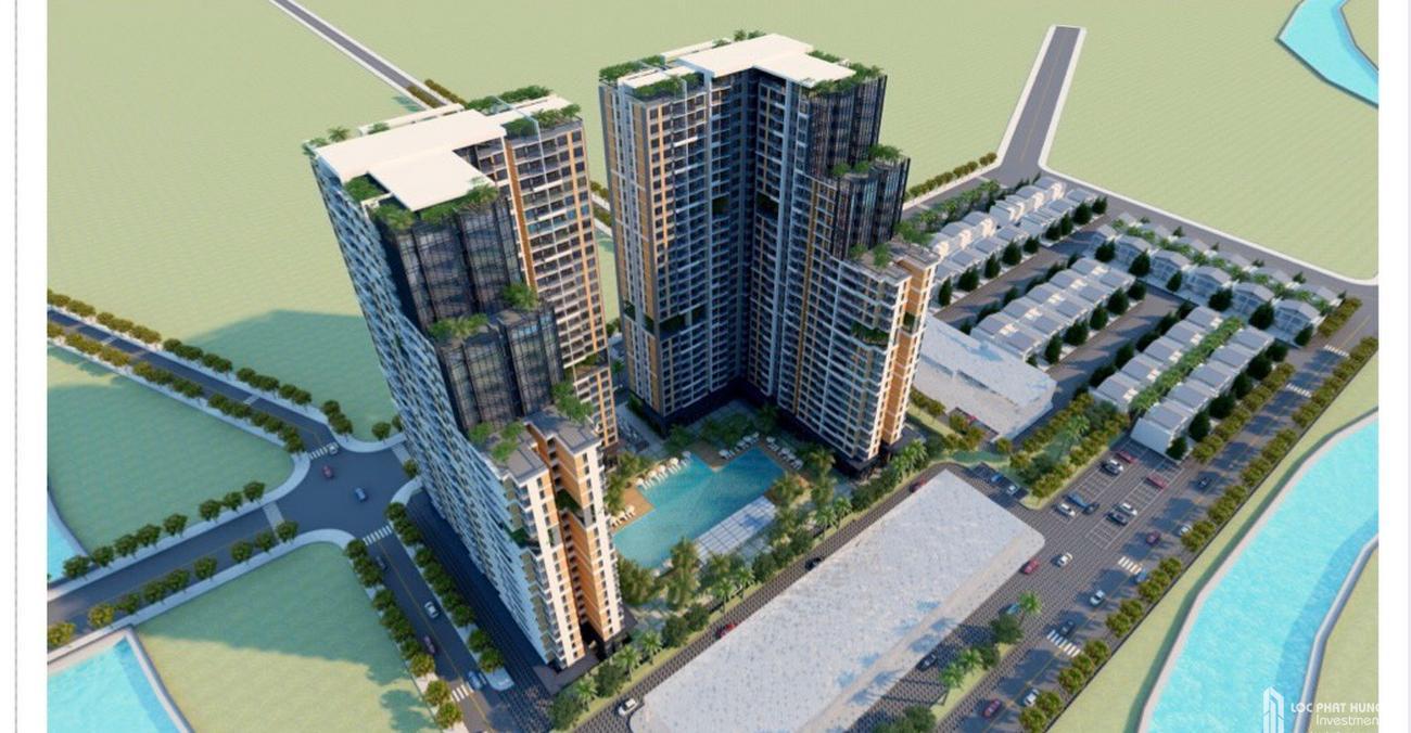 Phối cảnh tổng thể dự án căn hộ C'entella Bình Chánh Đường Nguyễn Văn Linh chủ đầu tư Tiến Phước