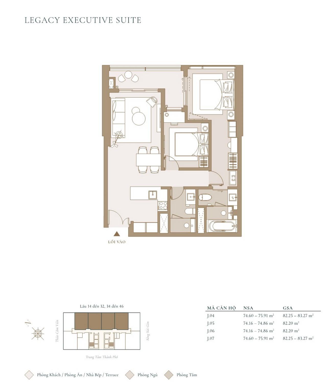 Thiết kế căn hộ tòa Cove Grand Marina Saigon