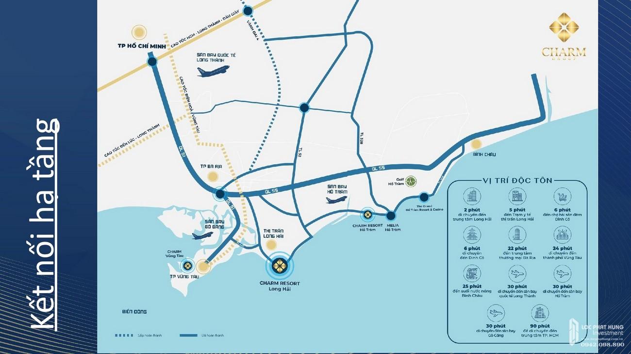 Vị trí địa chỉ dự án Condotel & Biệt thự Charm Resort Long Hải chủ đầu tư Charm Group
