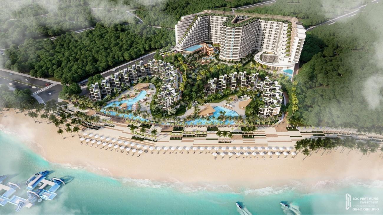 Phối cảnh tổng thể ban ngày của dự án Condotel & Biệt thự Charm Resort Long Hải