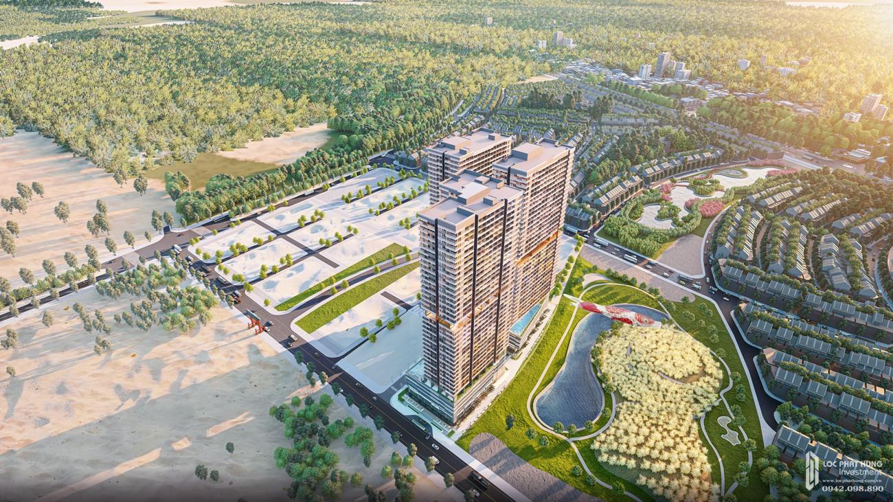 Phối cảnh tổng thể dự án Takashi Ocean Suite Kỳ Co chủ đầu tư Phát Đạt