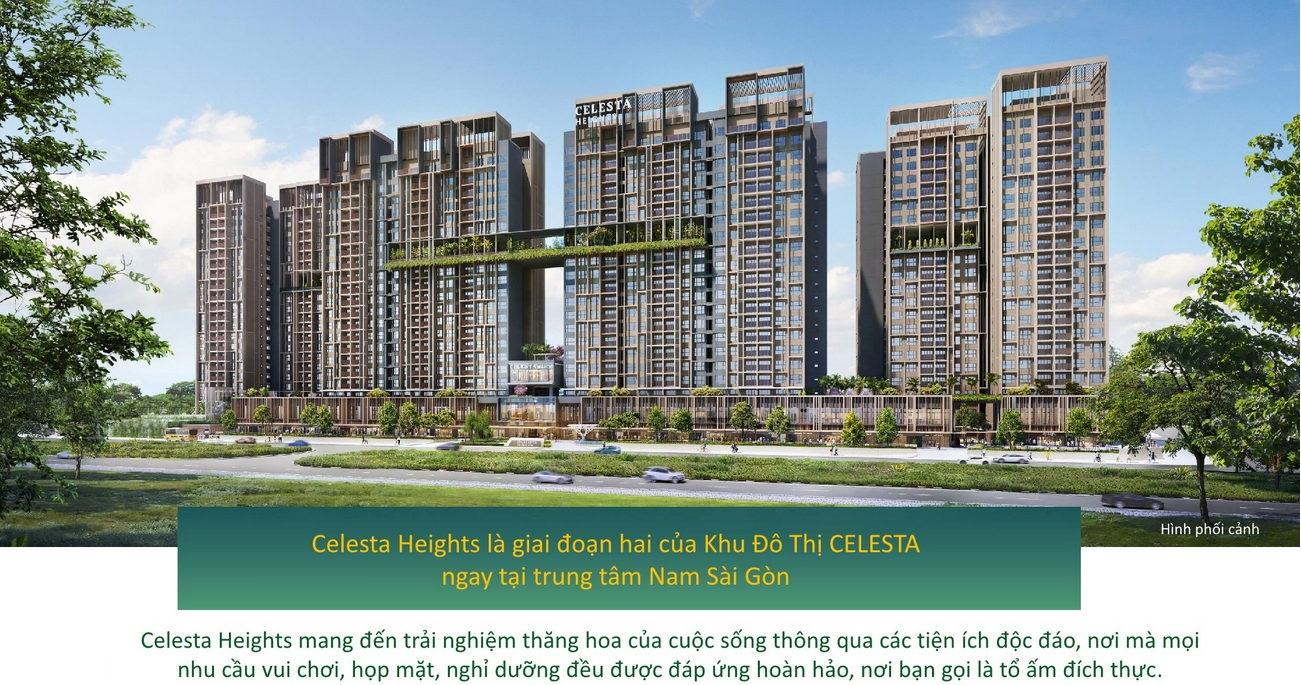 Mặt tiền căn hộ chung cư Celesta Heights Kepple Land Nhà Bè