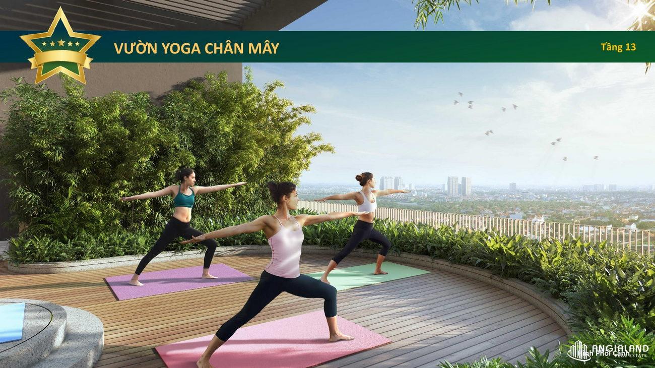 Vườn chân mây tập thiền hoặc Yoga Celesta Heights