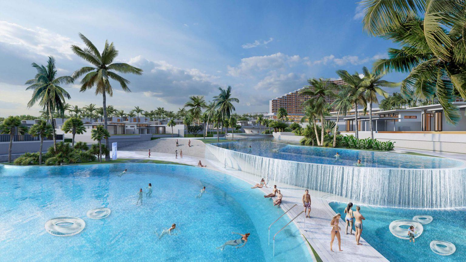Hồ bơi dự án Laimian Quy Nhơn chủ đầu tư HDTC
