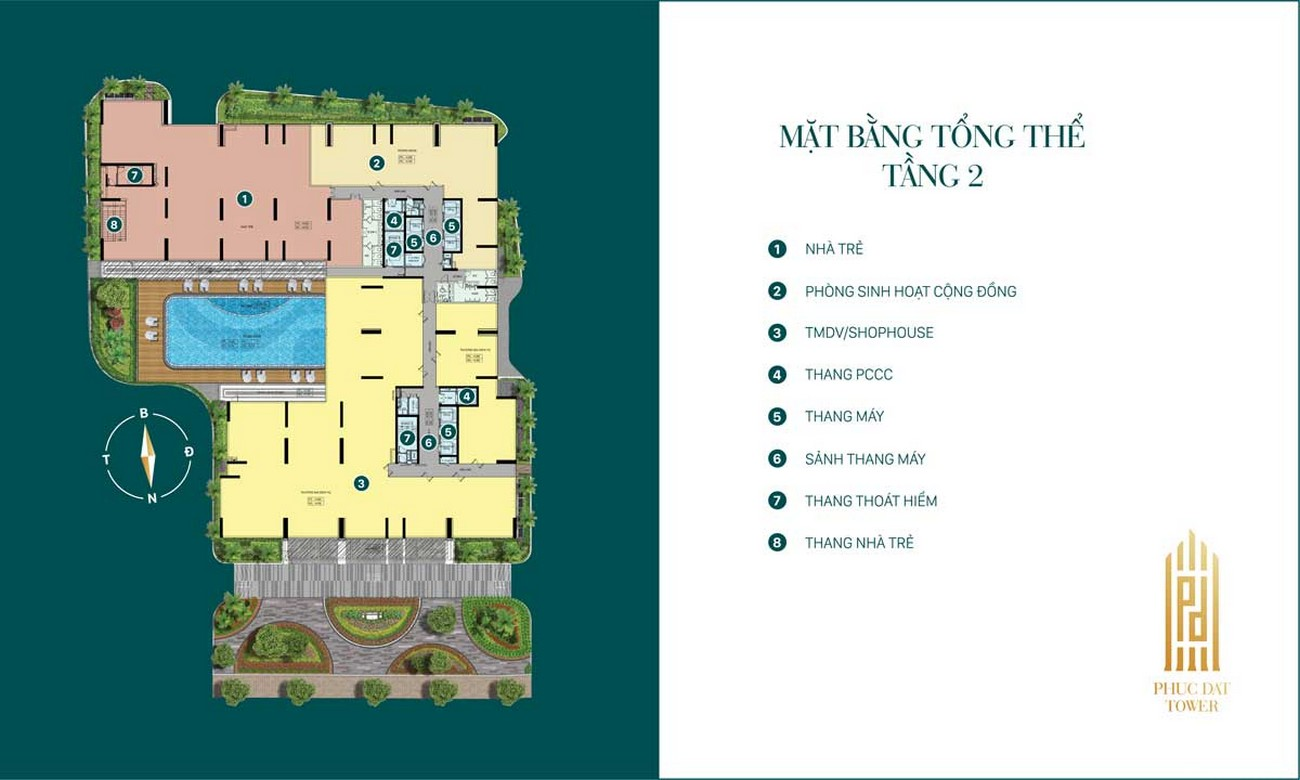 Mặt bằng dự án căn hộ chung cư Phúc Đạt Tower Dĩ An Đường Quốc lộ 1K chủ đầu tư Phúc Đạt