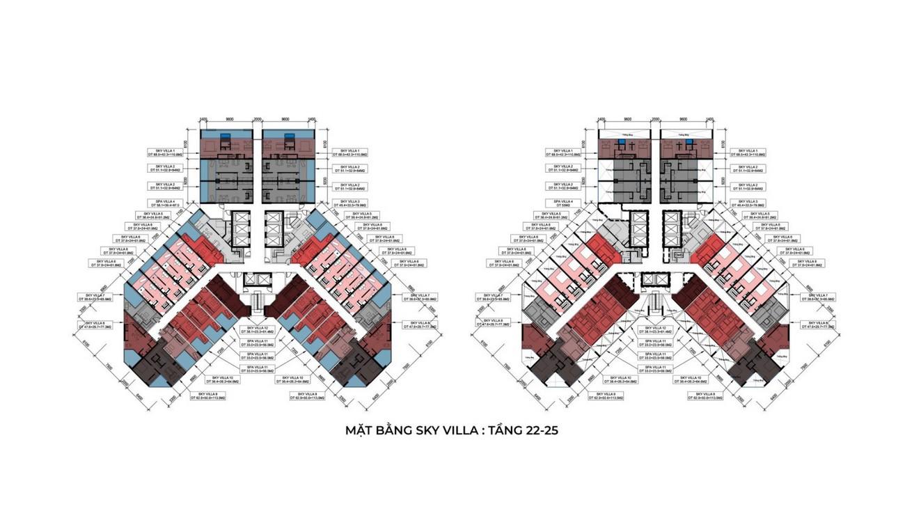 Mặt bằng dự án biệt thự Apec Mandala Sky Villas Tuy Hòa chủ đầu tư Apec Group