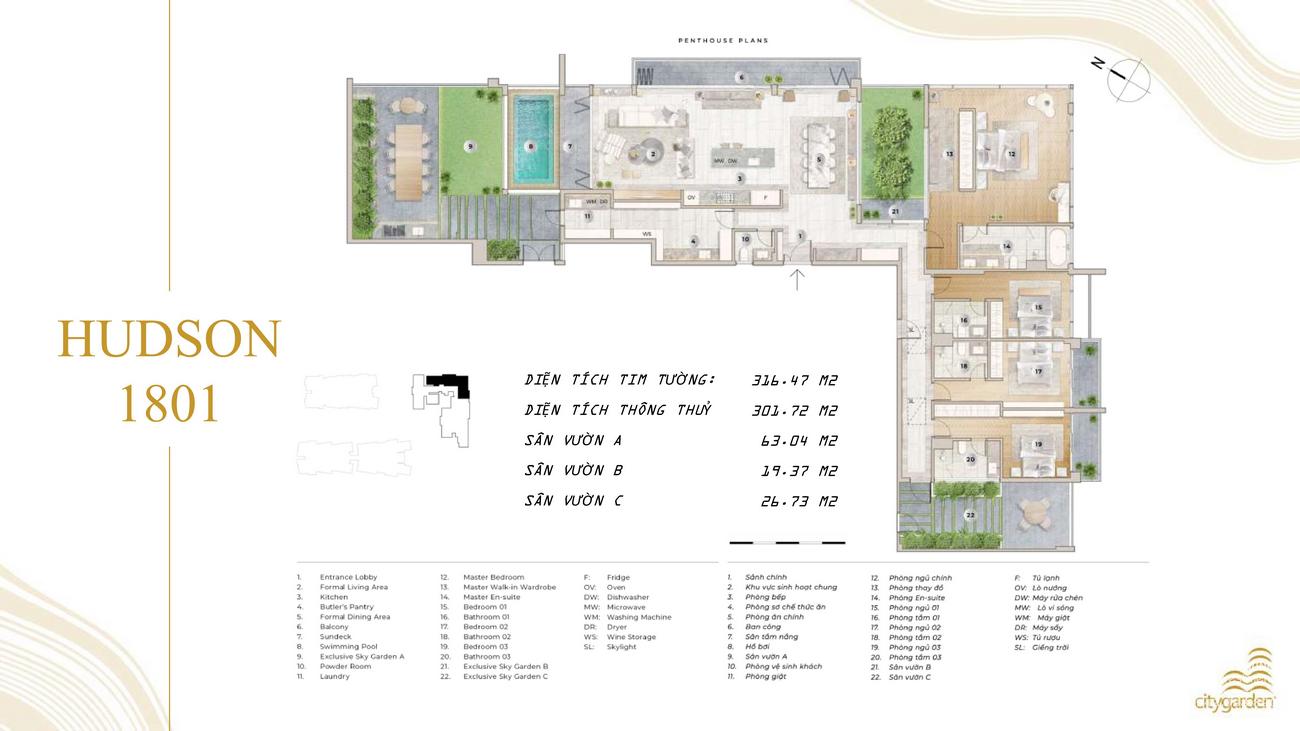 Không gian sống đẳng cấp tại Penthouse The River Thủ Thiêm
