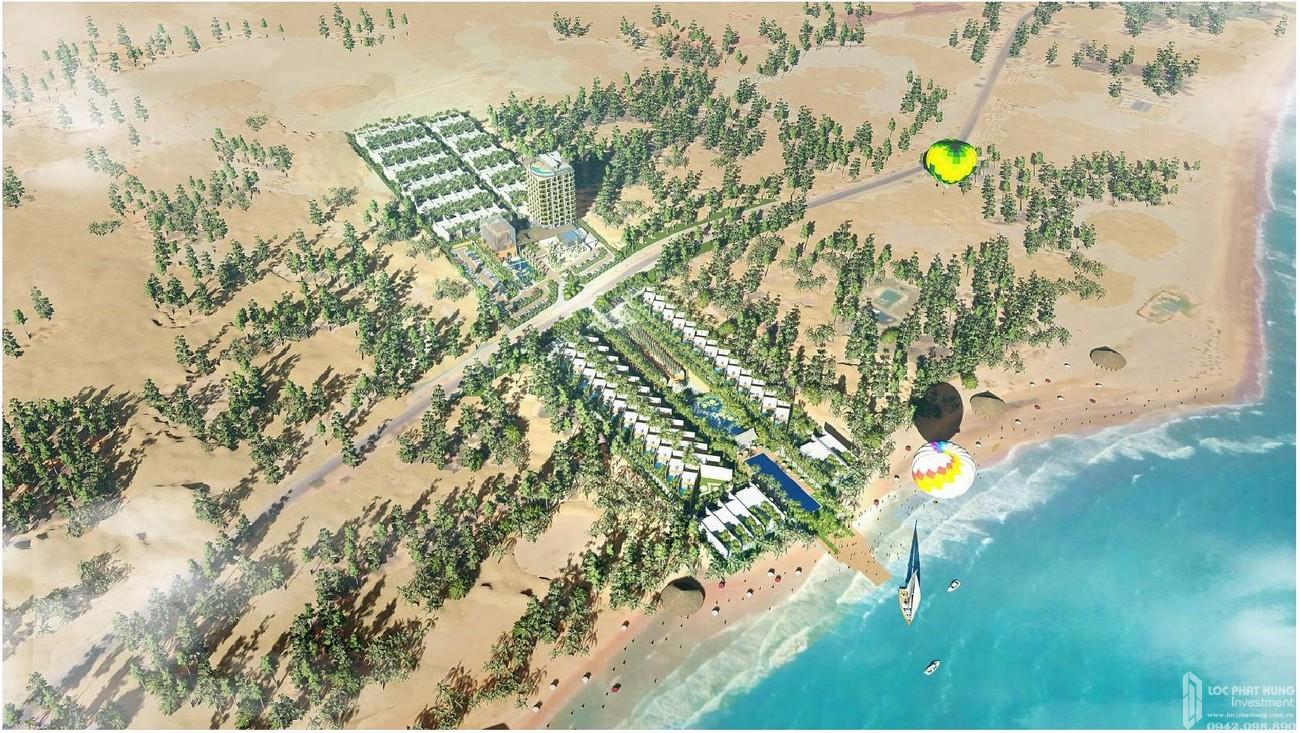 Phối cảnh tổng thể dự án  Apec Mandala Retreats Mũi Né  chủ đầu tư Apec Group