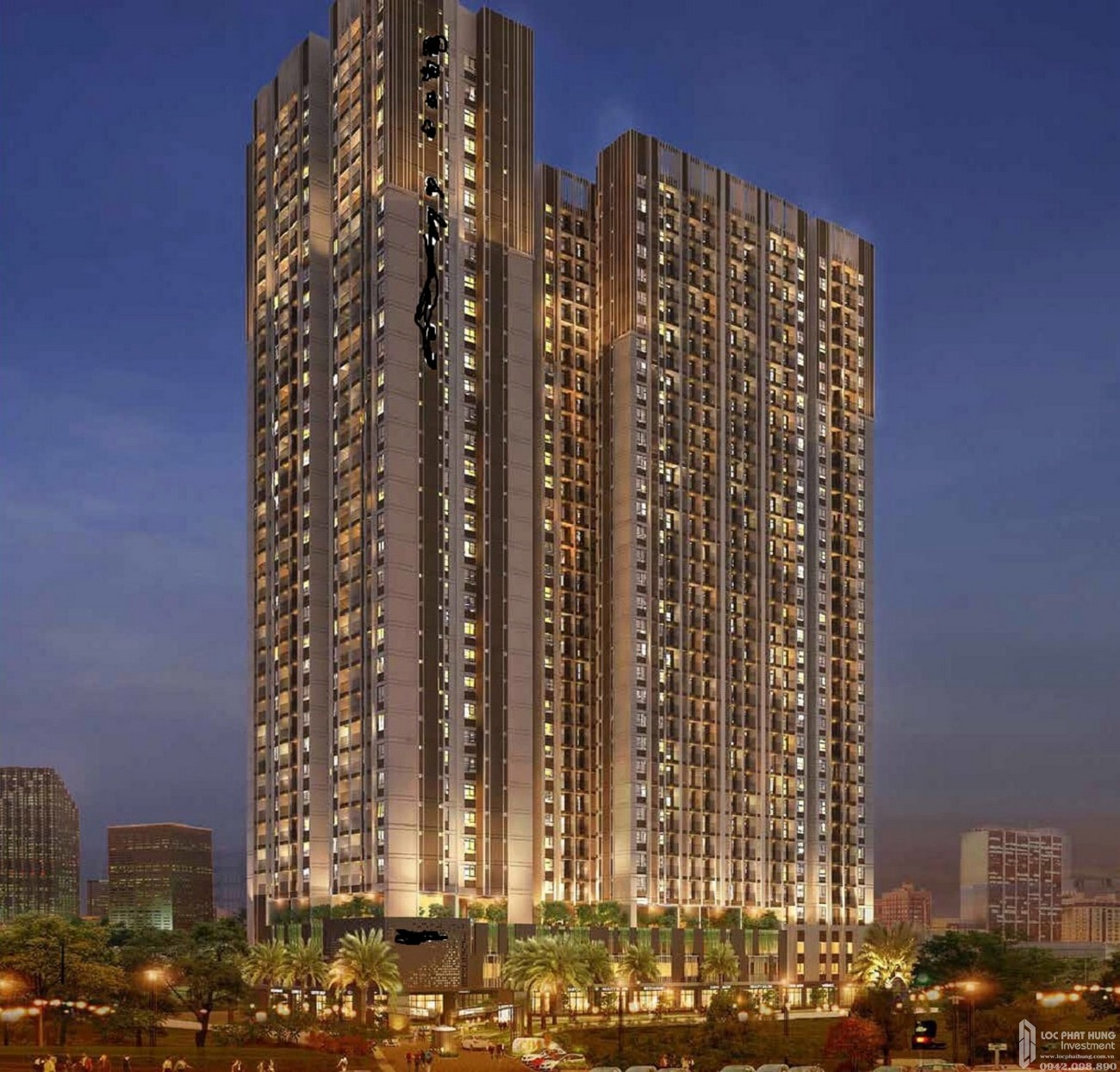 Phối cảnh tổng thể dự án căn hộ chung cư Phúc Đạt Tower Dĩ An Đường Quốc lộ 1K chủ đầu tư Phúc Đạt