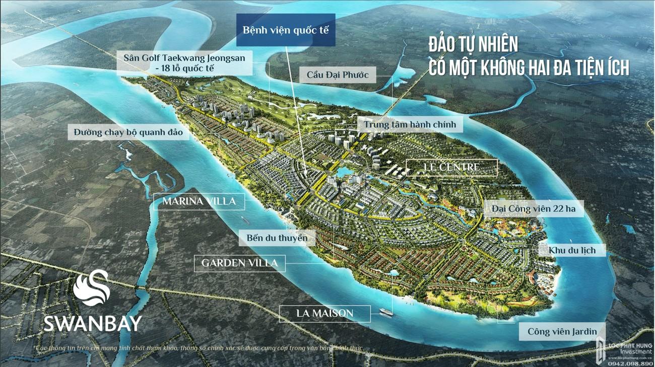 Phối cảnh tổng thể phân khu Swanbay Oasia Đồng Nai