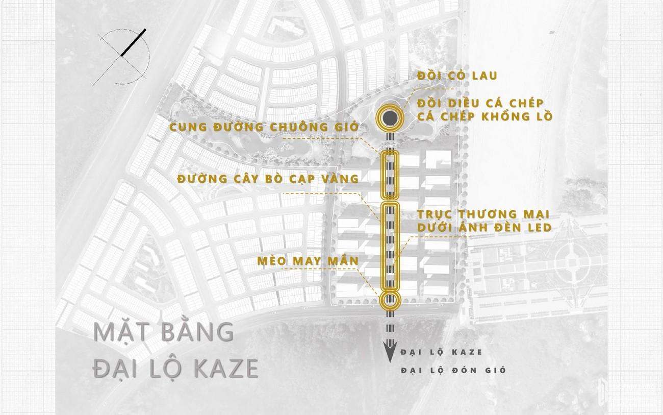 Mặt bằng đại lộ Kaze dự án Takashi Ocean Suite Kỳ Co chủ đầu tư Phát Đạt