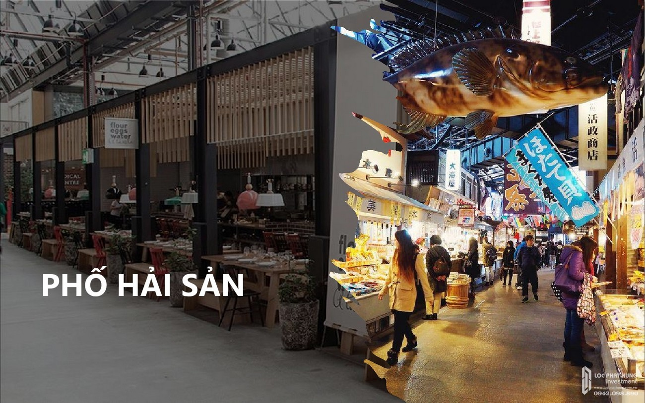 Phố hải sản dự án Takashi Ocean Suite Quy Nhơn chủ đầu tư Phát Đạt