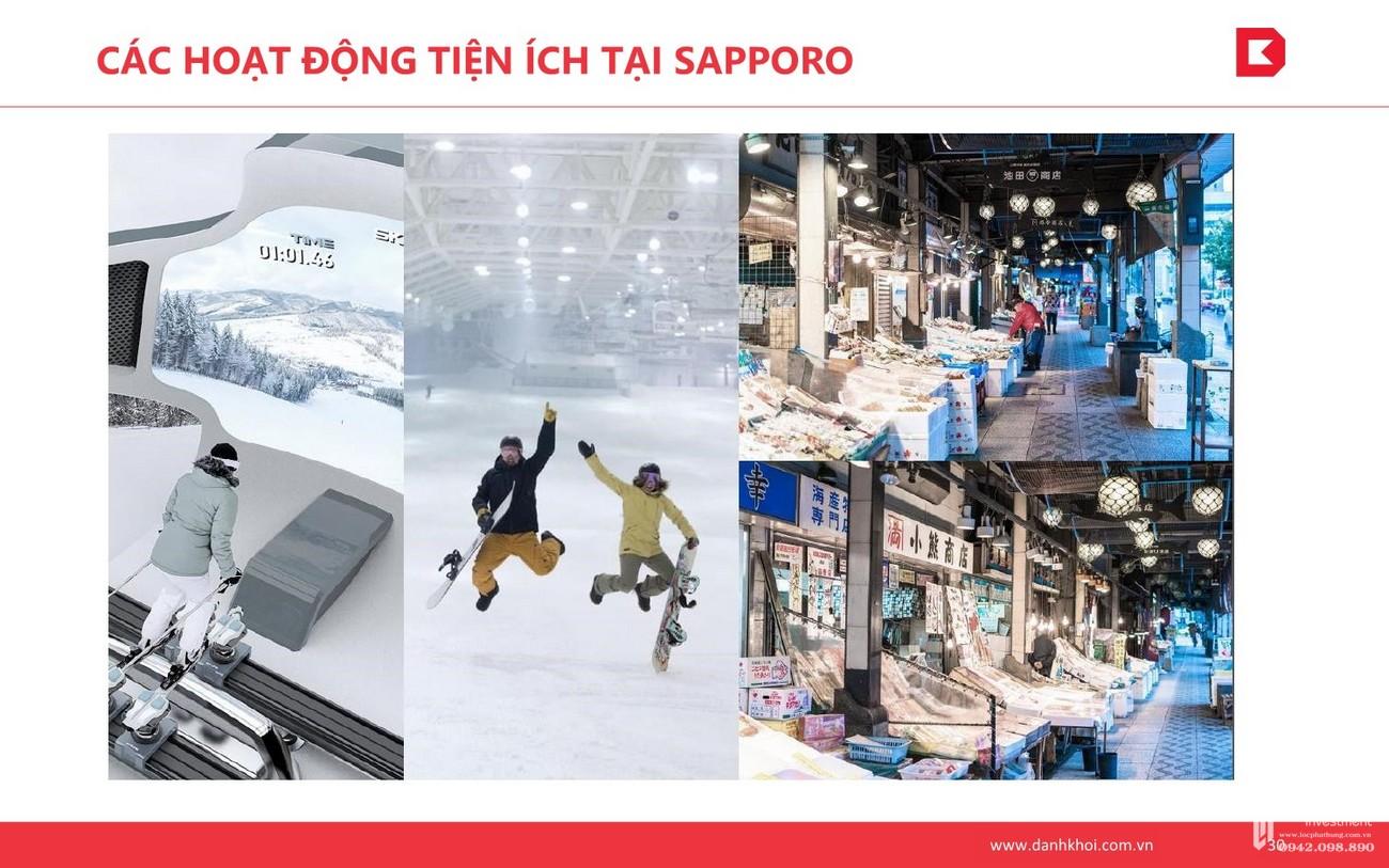 Các hoạt động tiện ích tại Sapporo dự án Takashi Ocean Suite Quy Nhơn chủ đầu tư Phát Đạt