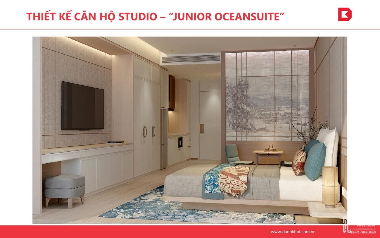 """Thiết kế căn hộ Studio - """"Junior OceanSuite"""" dự án Takashi Ocean Suite Kỳ Co chủ đầu tư Phát Đạt"""