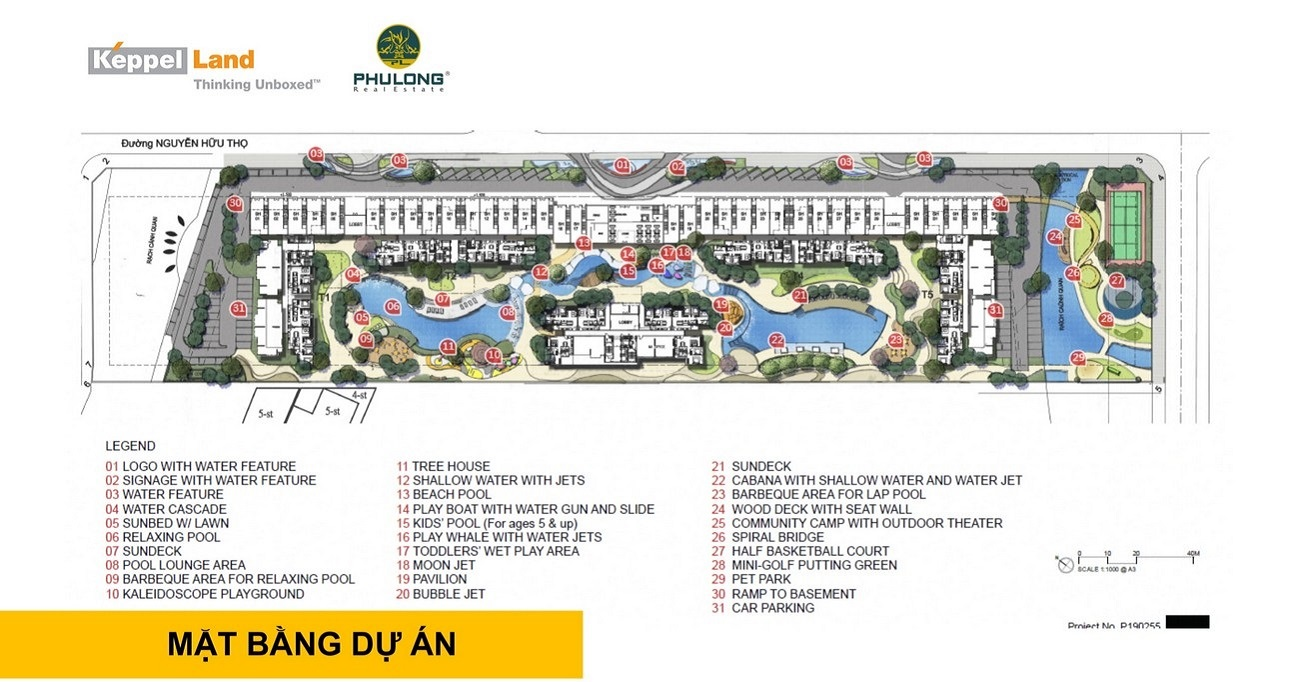 Tiện ích dự án căn hộ chung cư Celesta Heights Nhà Bè Đường Nguyễn Hữu Thọ chủ đầu tư Keppel Land