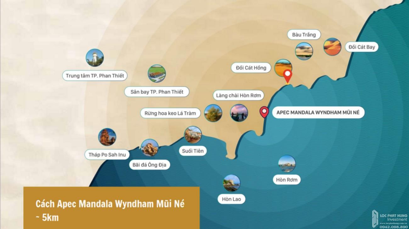 Vị trí địa chỉ dự án  Apec Mandala Retreats Mũi Né  chủ đầu tư Apec Group
