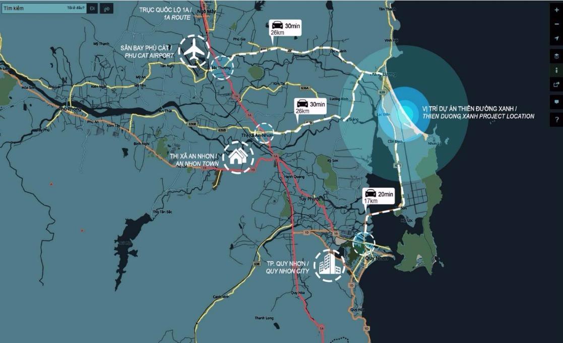 Vị trí dự án Laimian Quy Nhơn chủ đầu tư HDTC