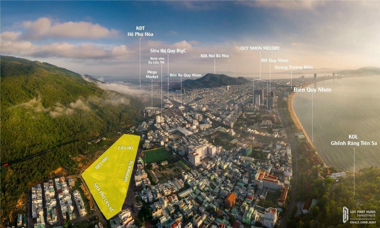 Vị trí của dự án Richmond Quy Nhơn chủ đầu tư Hưng Thịnh