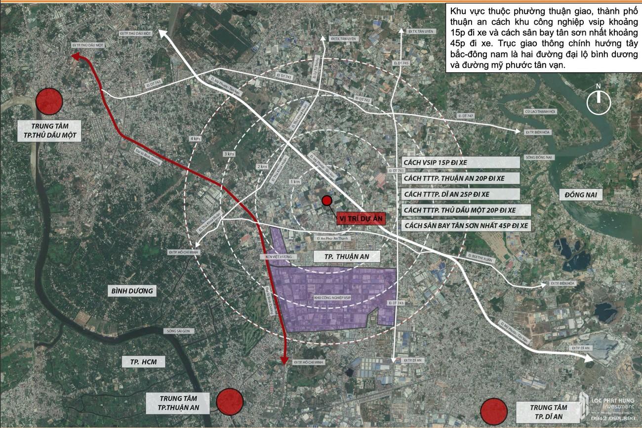 Vị trí chính xác dự án Ben Hill Thuận An chủ đầu tư Ben House