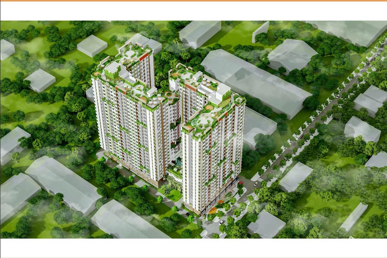 Phối cảnh tổng thể dự án Ben Hill Thuận An chủ đầu tư Ben House