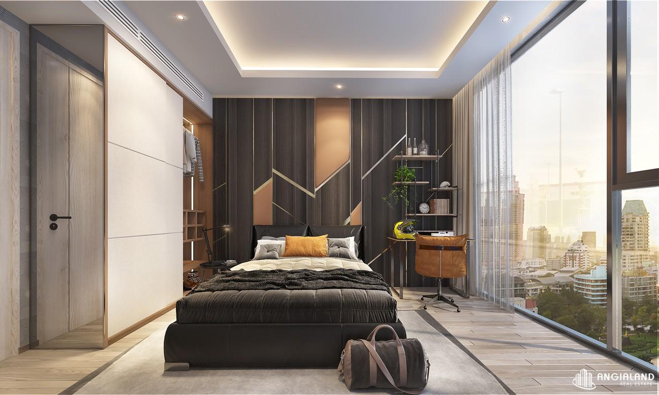 Thiết kế phòng ngủ master nhà mẫu Thảo Điền Green loại 2 phòng ngủ