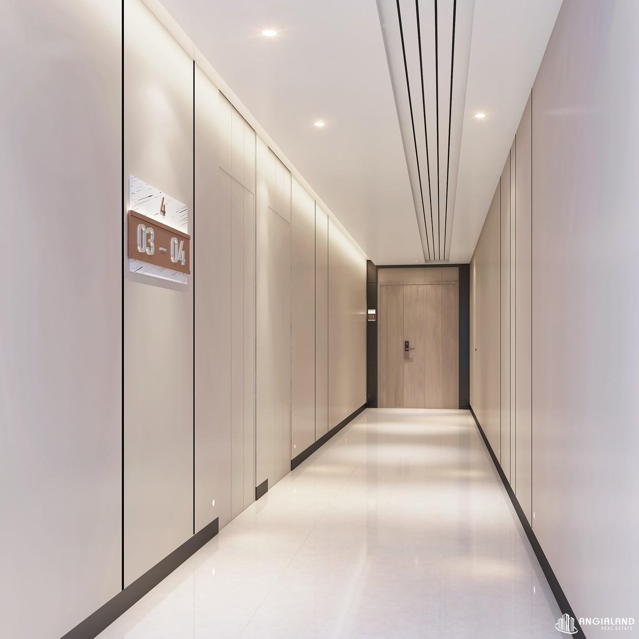 Không gian sảnh đón, sảnh thang máy Thảo Điền Green