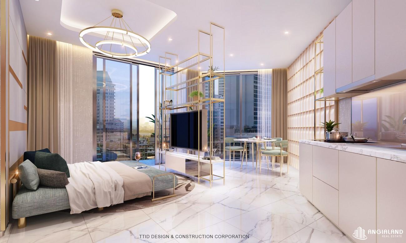 Thiết kế phòng ngủ chính nhà mẫu Thảo Điền Green loại 1 phòng ngủ