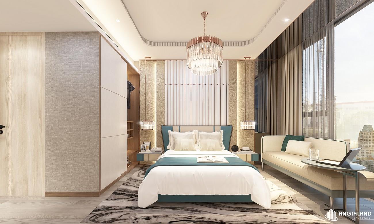 Thiết kế phòng ngủ 2 nhà mẫu Thảo Điền Green loại 2 phòng ngủ