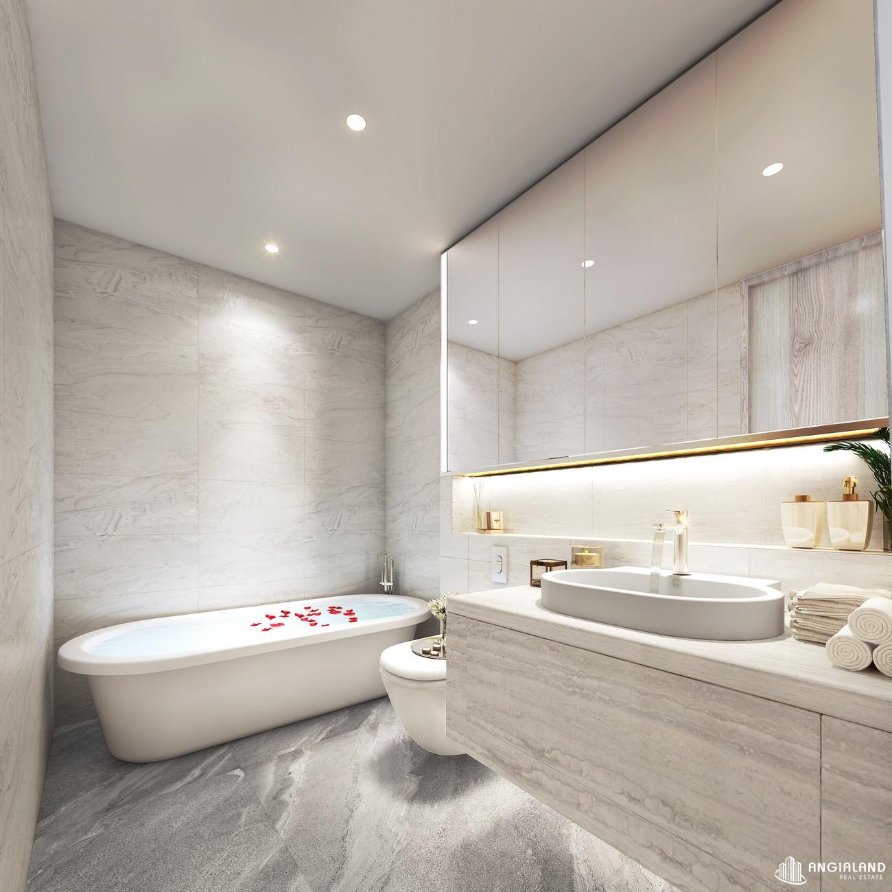 Thiết kế toiler phòng master nhà mẫu Thảo Điền Green loại 2 phòng ngủ