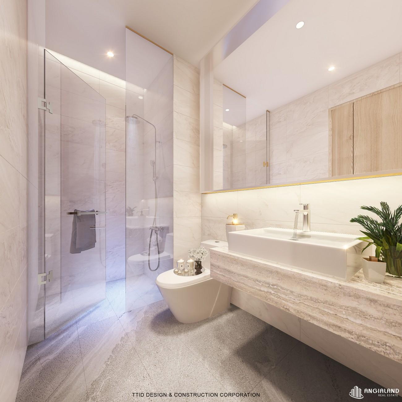 Thiết kế vệ sinh nhà mẫu Thảo Điền Green loại 1 phòng ngủ