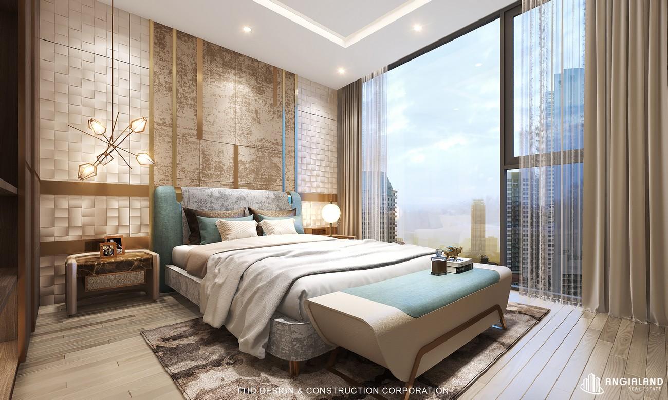 Thiết kế phòng ngủ nhà mẫu dự án căn hộ Thảo Điền Green Towers Quận 2