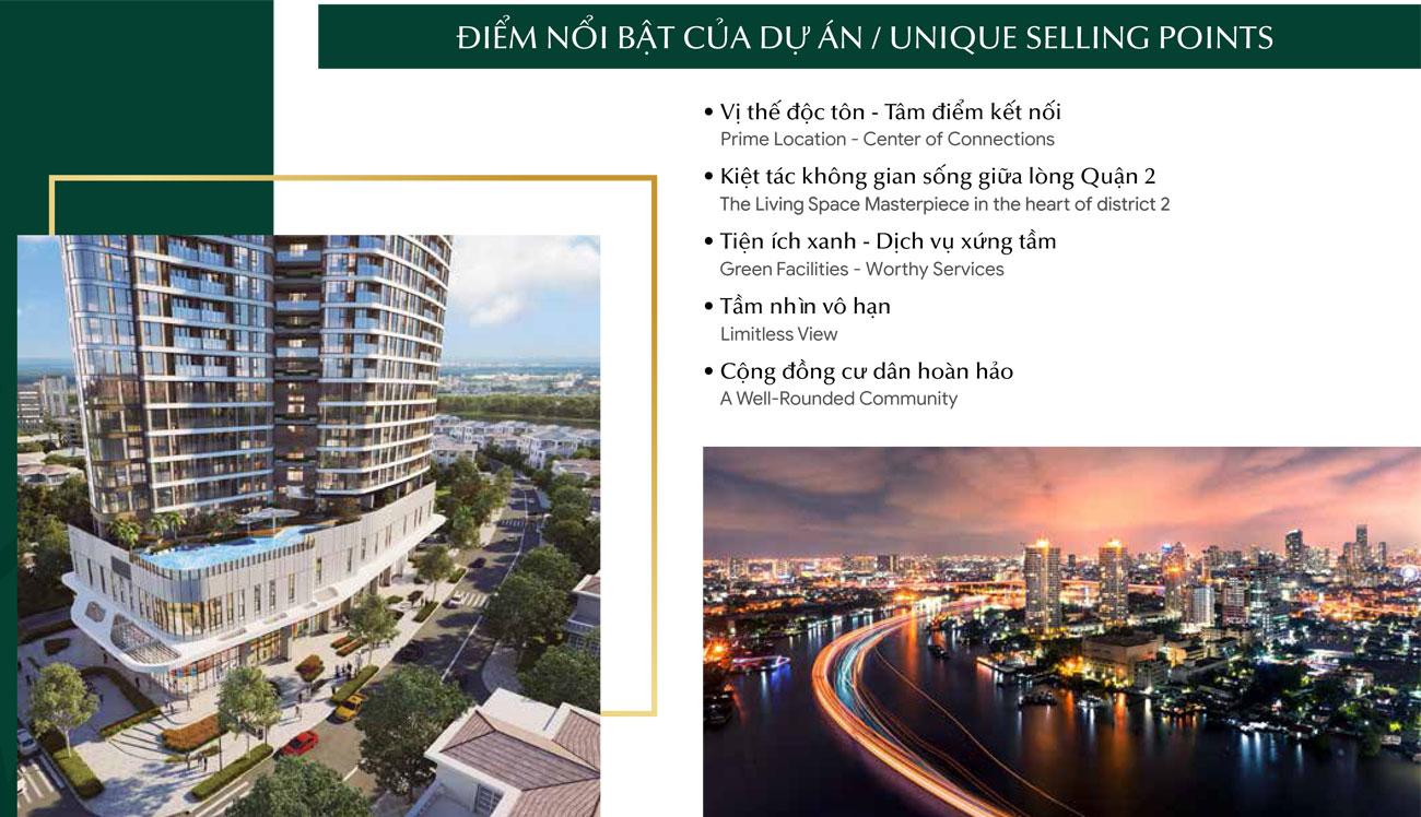 Điểm nổi bật dự án căn hộ chung cư Thảo Điền Green Quận 2