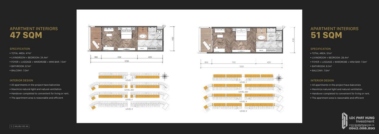 Thiết kế chi tiết sản phẩm của Malibu Resort & Villas Hội An