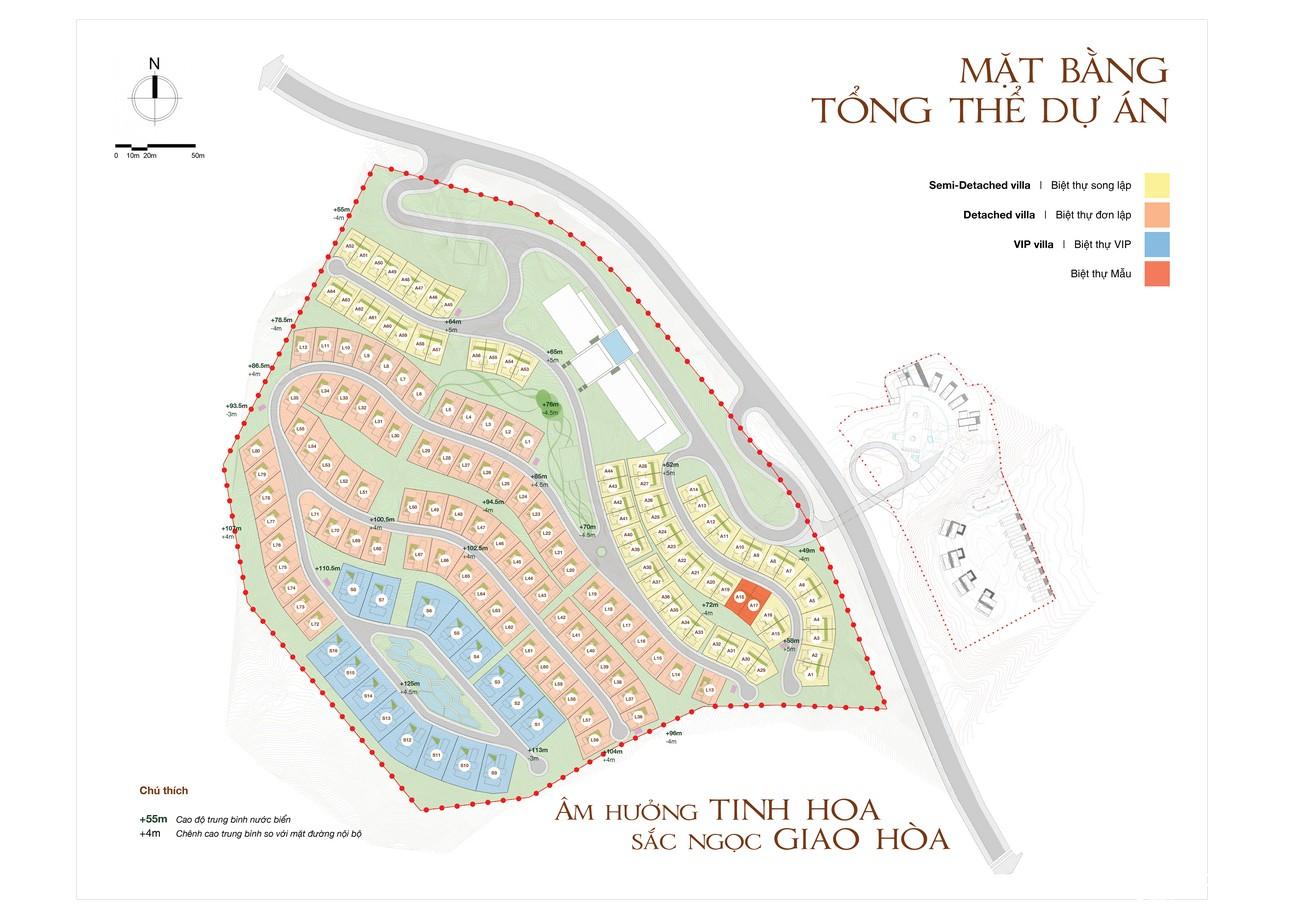 Mặt bằng dự án biệt thự nghỉ dưỡng chung cư Casa Marina Premium phuong ghenh rang Đường Quốc Lộ 1D chủ đầu tư BCG Land Group
