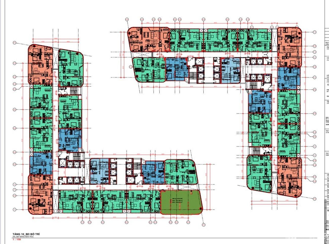 Mặt bằng dự án căn hộ chung cư King Crown City Thủ Đức