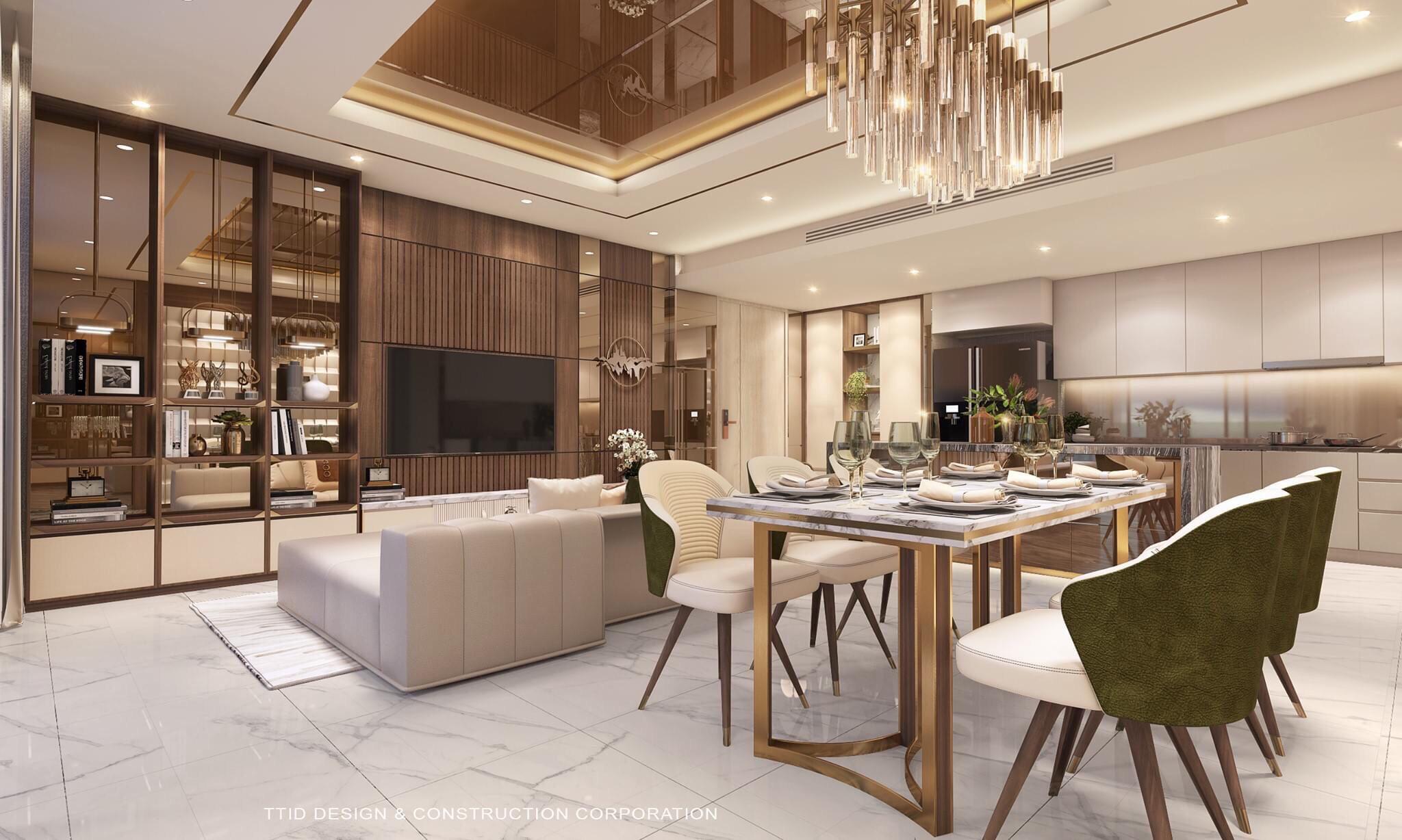 Nhà mẫu dự án căn hộ chung cư Thảo Điền Green Quận 2