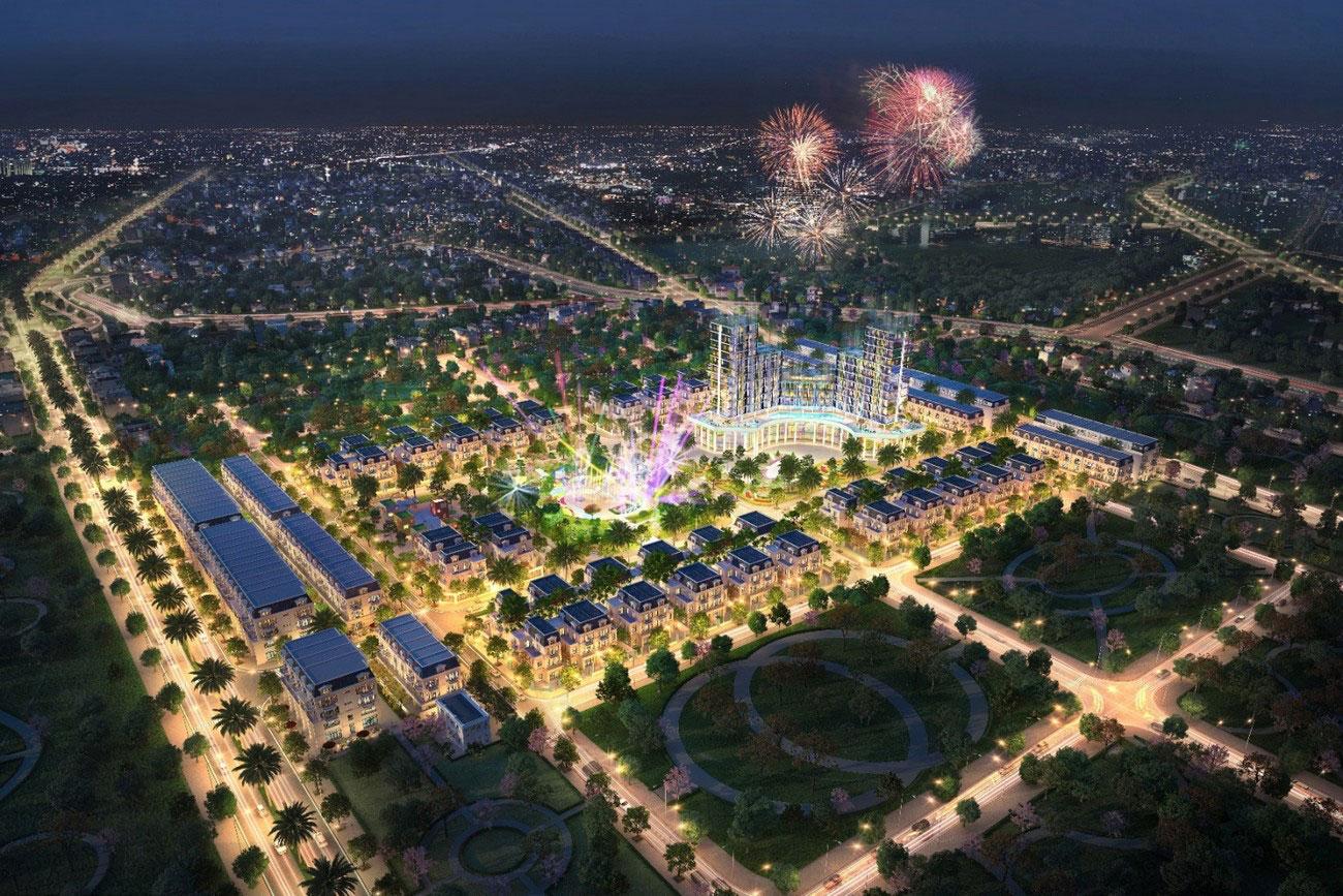 Phối cảnh tổng thể dự án căn hộ chung cư Midori Park The Glory Thủ Dầu Một  chủ đầu tư Becamex Tokyu