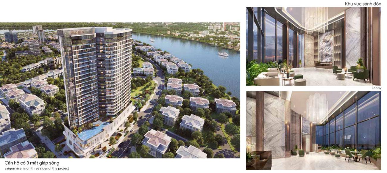Sảnh đón dự án căn hộ chung cư Thảo Điền Green Quận 2