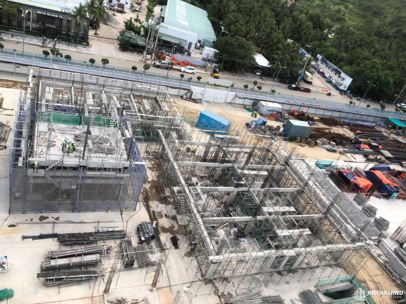 Tiến độ xây dựng Shophouse Vega City Bãi Tiên Nha Trang chủ đầu tư KDI Holdings