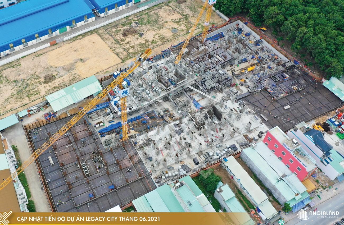 Tiến độ xây dựng Legacy Central Kim Oanh tháng 06/2021