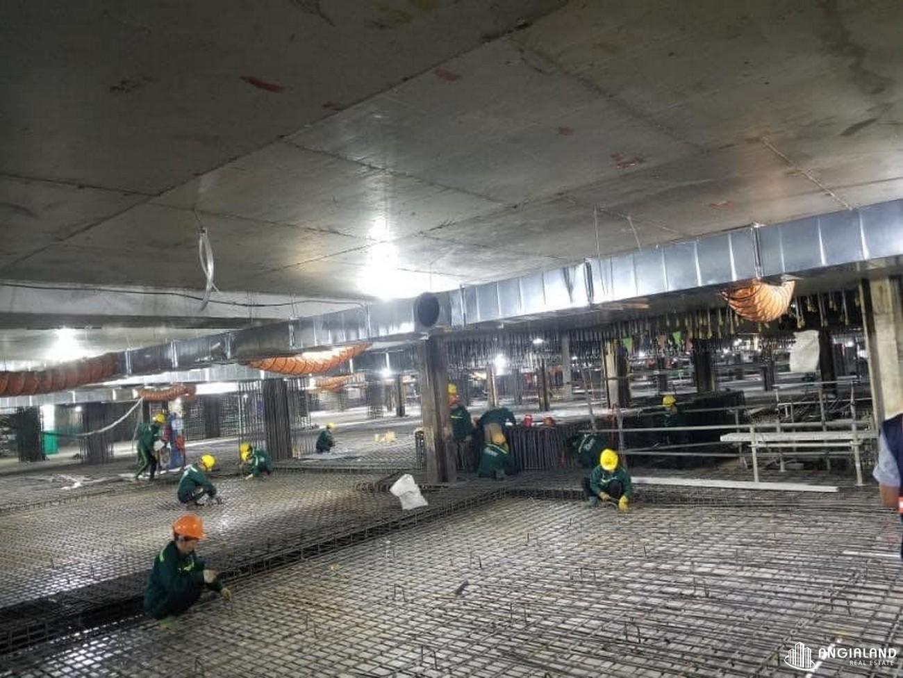Tiến độ xây dựng dự án Grand Manhattan Quận 1 tháng 01/2021
