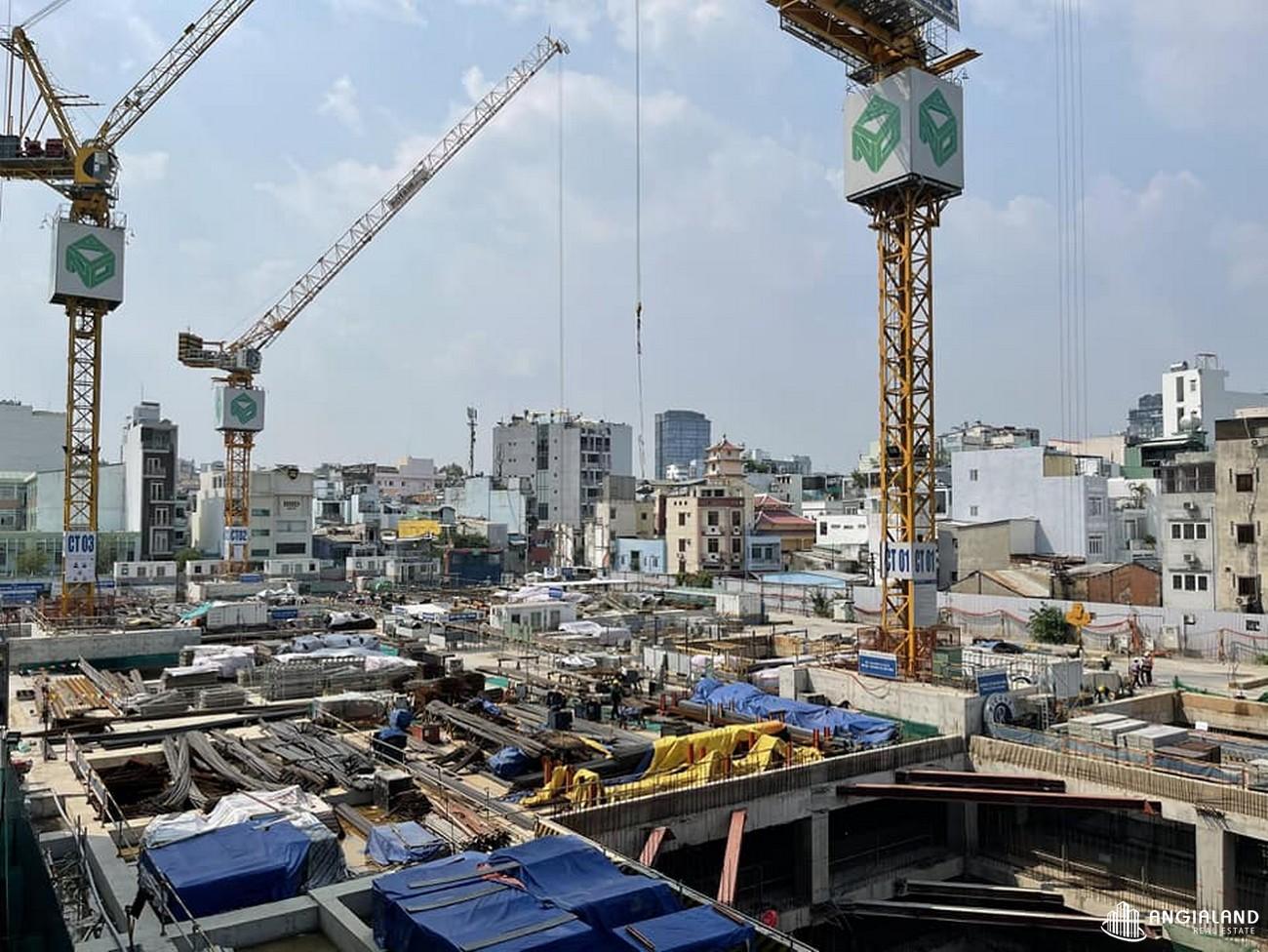 Tiến độ xây dựng dự án Grand Manhattan Quận 1 tháng 04/2021