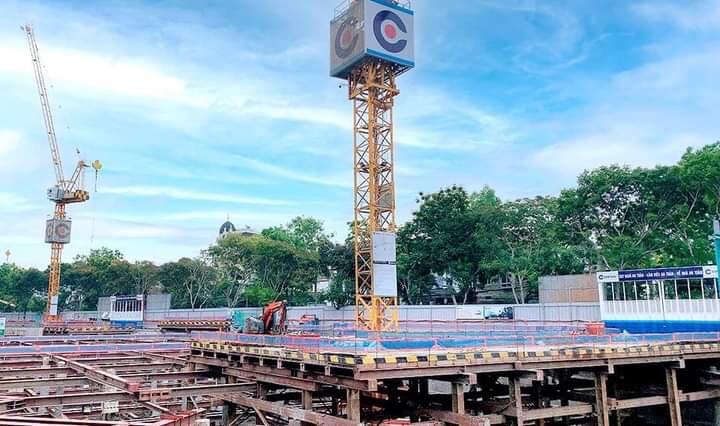 Tiến độ xây dựng Thao Dien Green tháng 04/2021